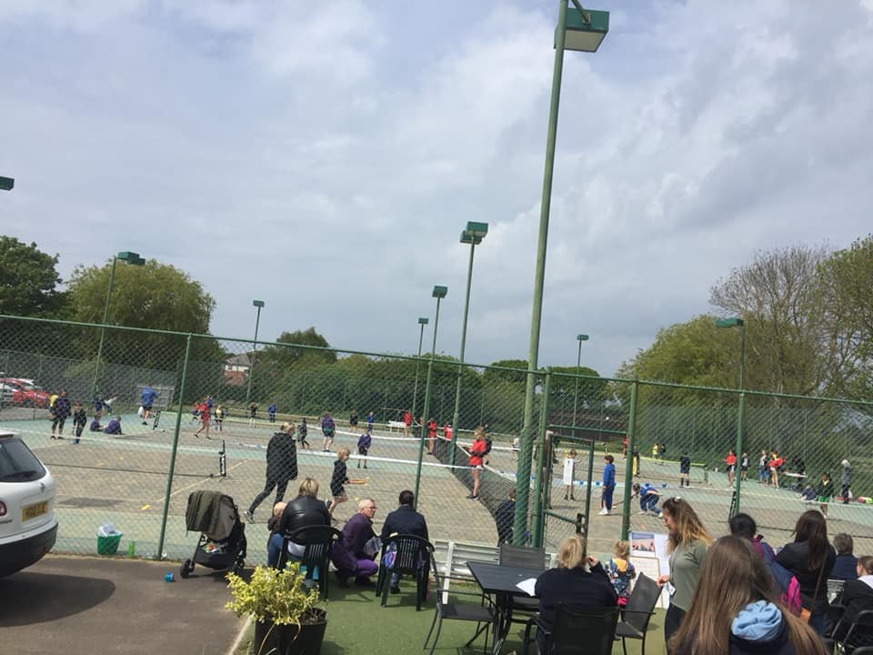 Tennis at the club
